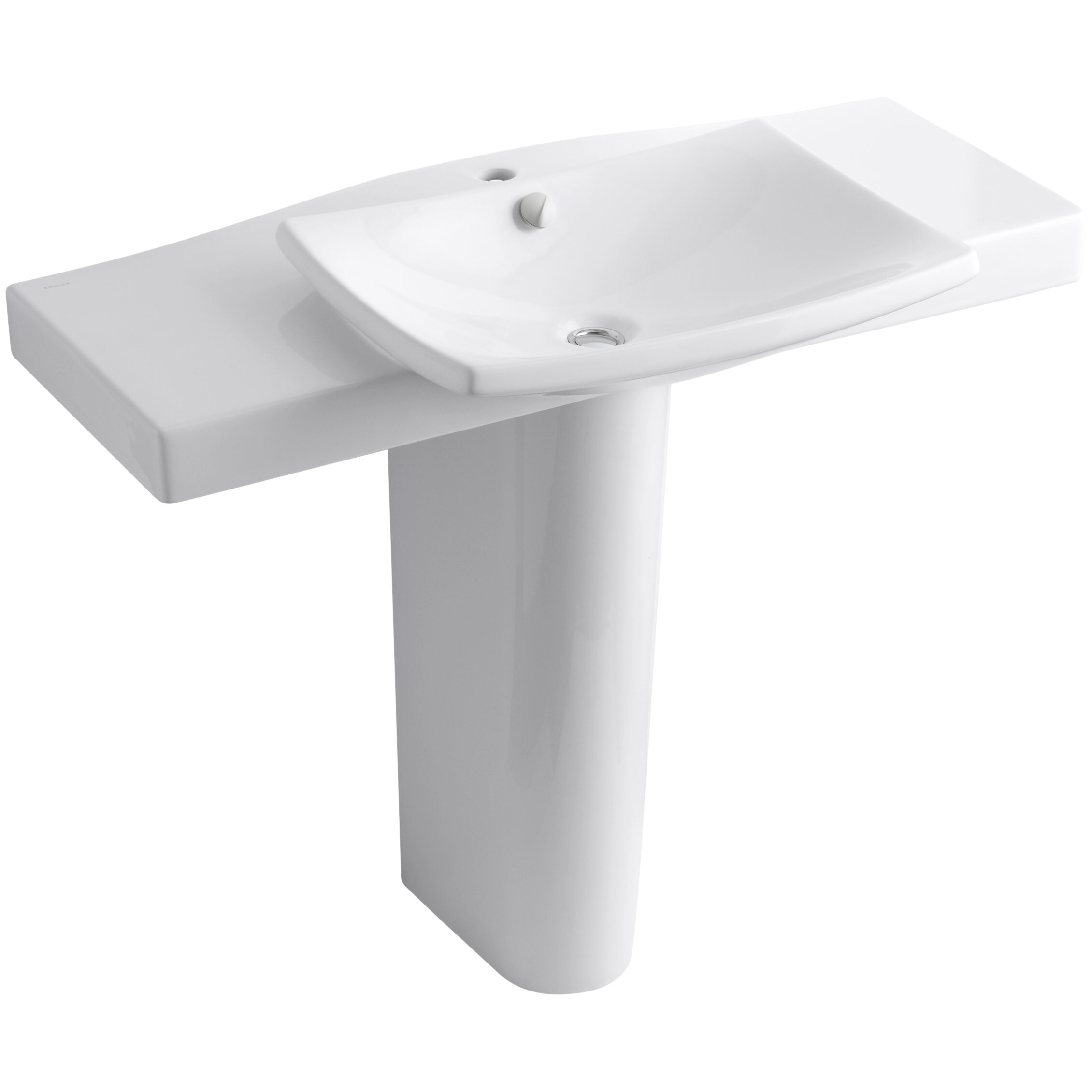 Kohler Escale Pedestal Bathroom Sink With Single Faucet Hole Wayfair