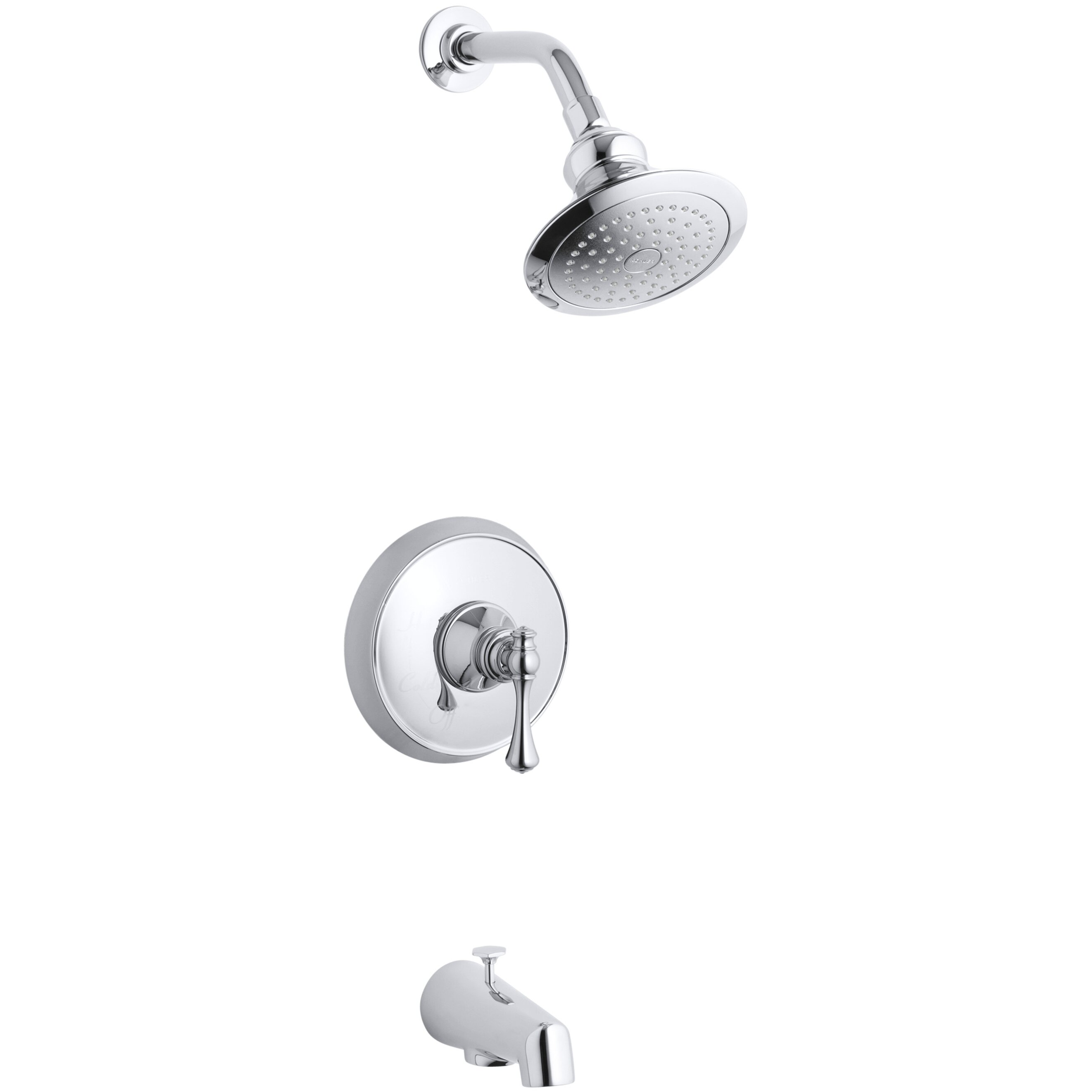 ... Bath and Shower Faucet Trim with Traditional Lever Handle by Kohler