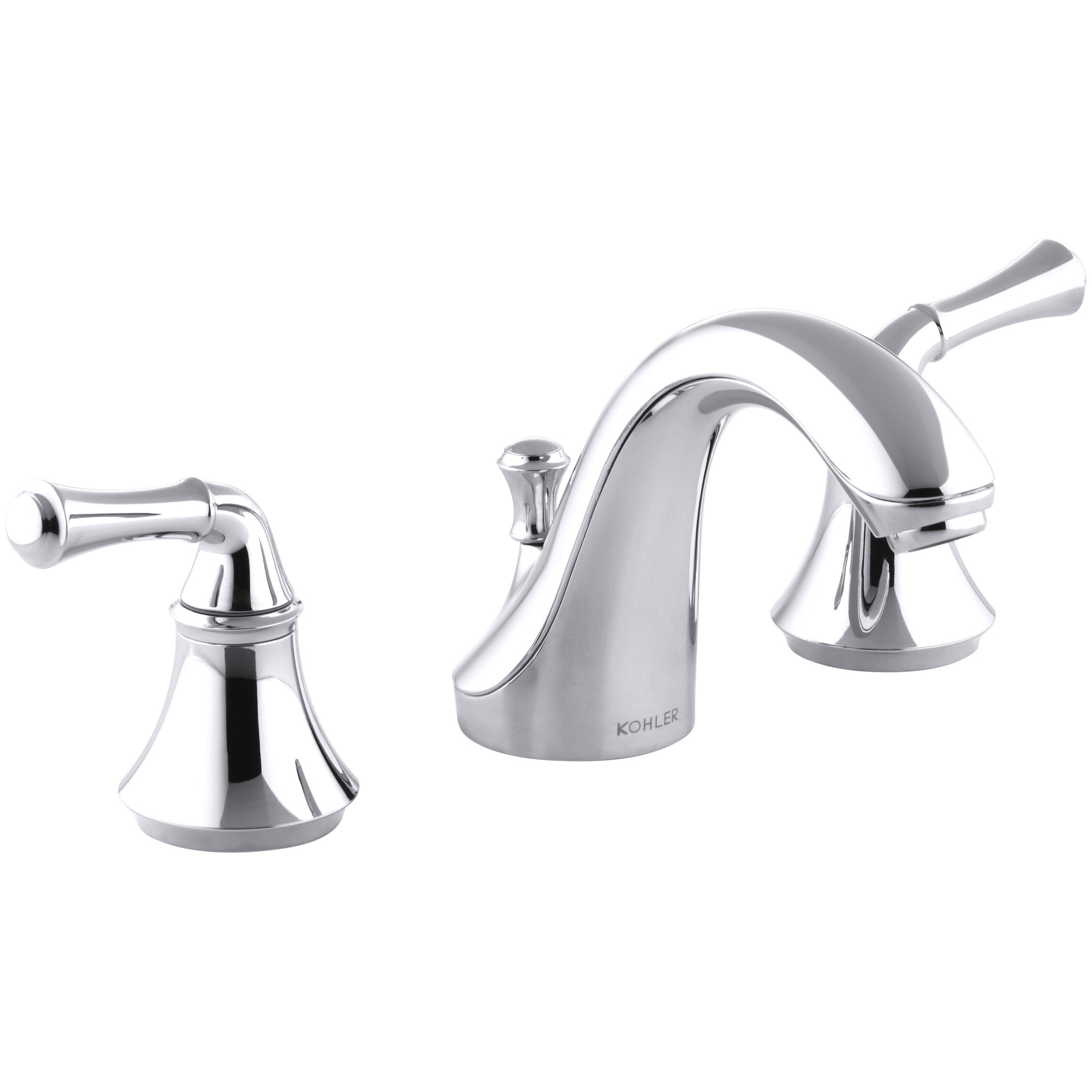 Kohler Faucet Reviews : Kohler Fort? Widespread Bathroom Sink Faucet with Traditional Lever ...