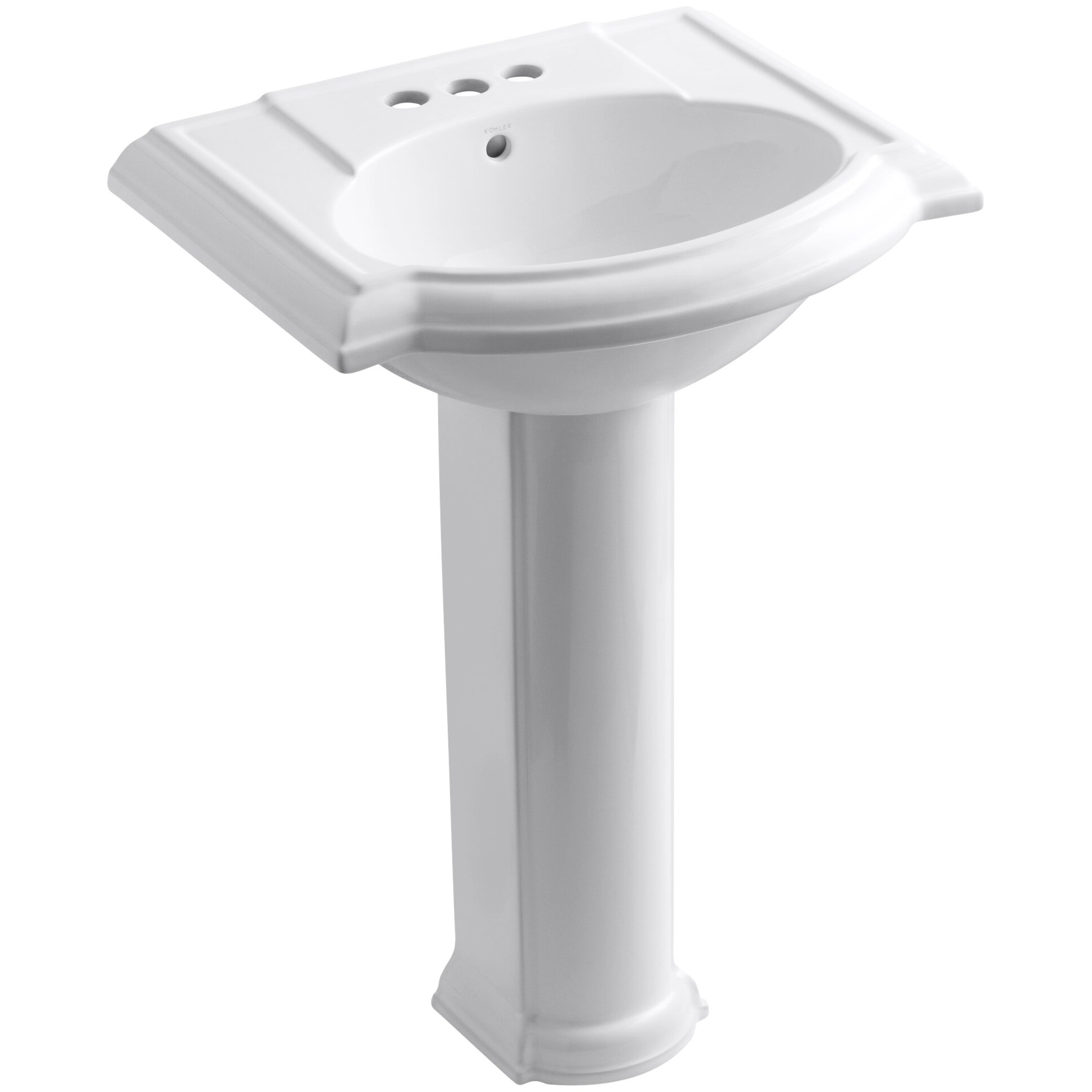 kohler bathroom sinks kohler devonshire 24 quot pedestal bathroom sink amp reviews 13384