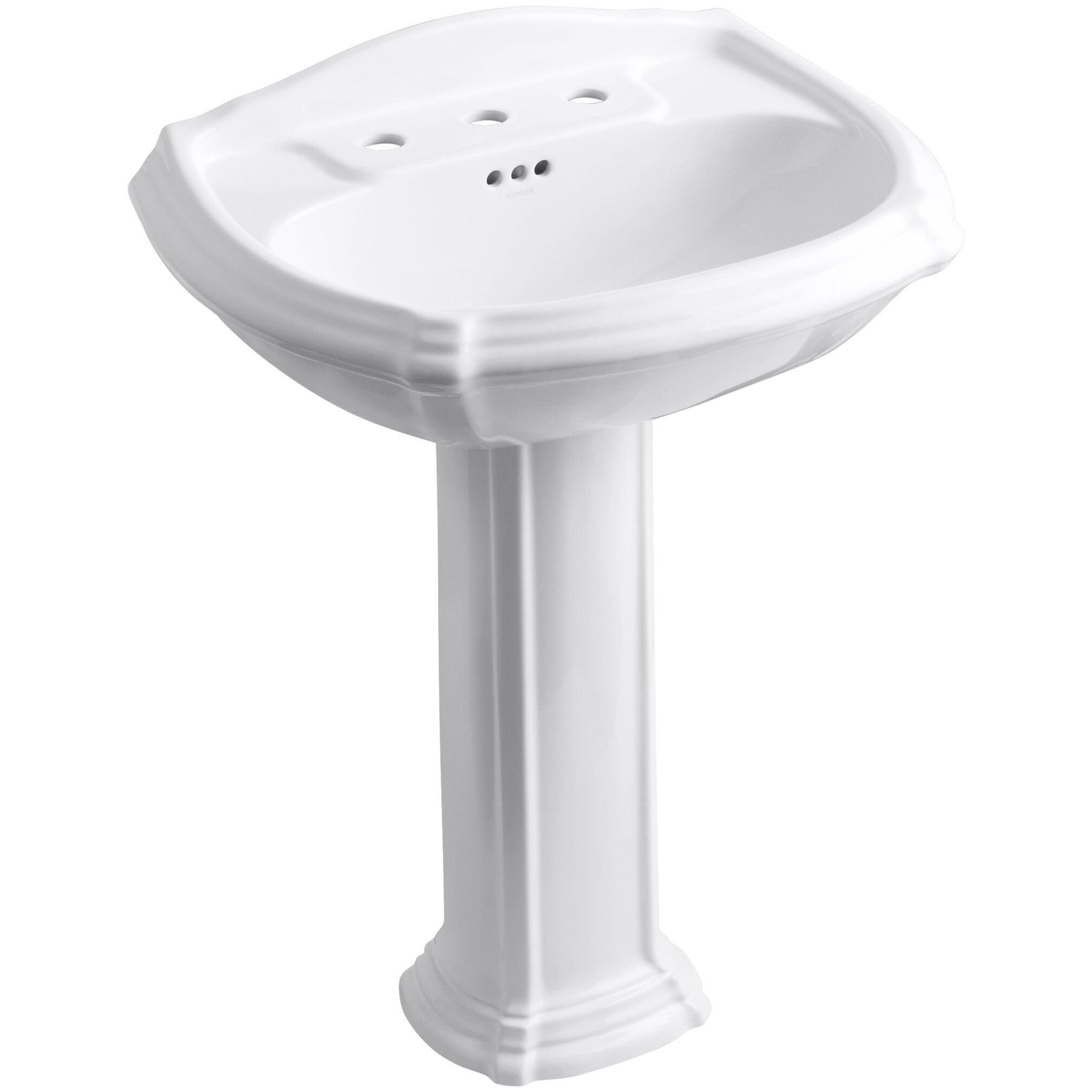 kohler portrait pedestal bathroom sink reviews wayfair