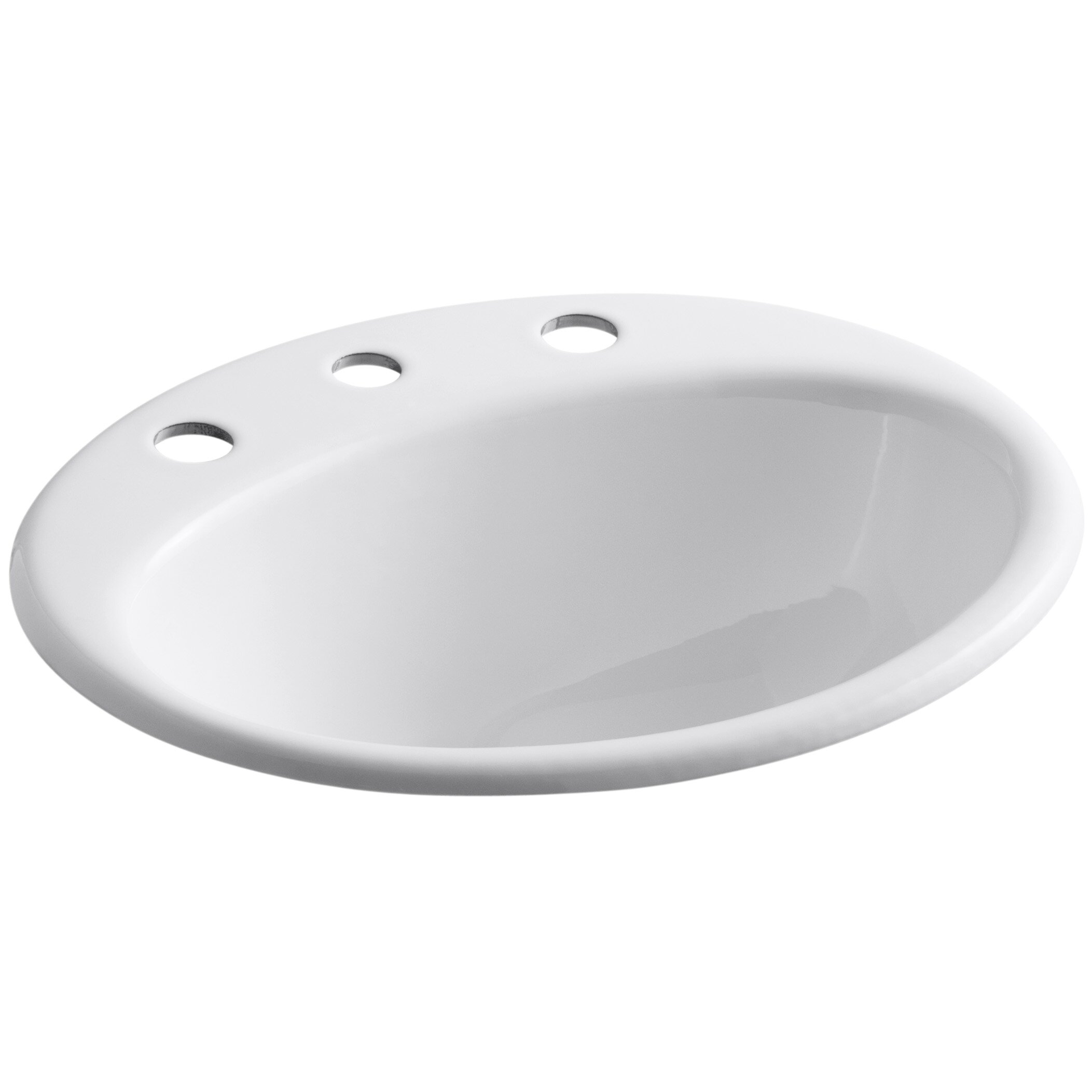 "Kohler Farmington Drop-In Bathroom Sink with 8"" Widespread ..."