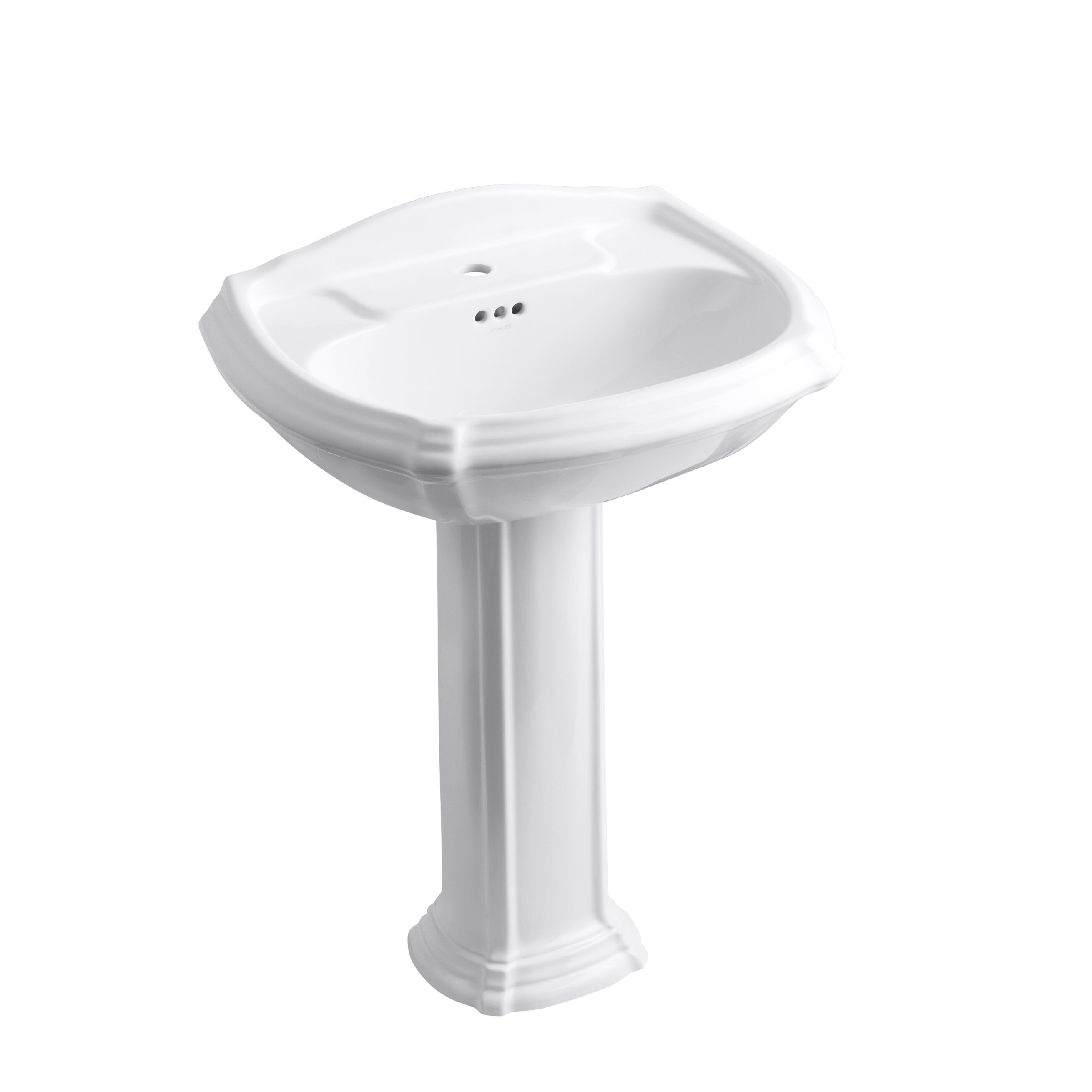 Kohler Portrait Pedestal Bathroom Sink & Reviews | Wayfair Supply