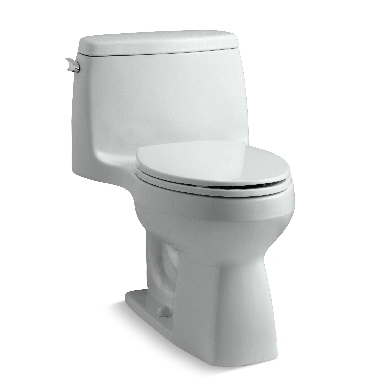 Kohler Santa Rosa >> Kohler Santa Rosa Comfort Height Compact 1.28 GPF Elongated 1 Piece Toilet & Reviews | Wayfair.ca