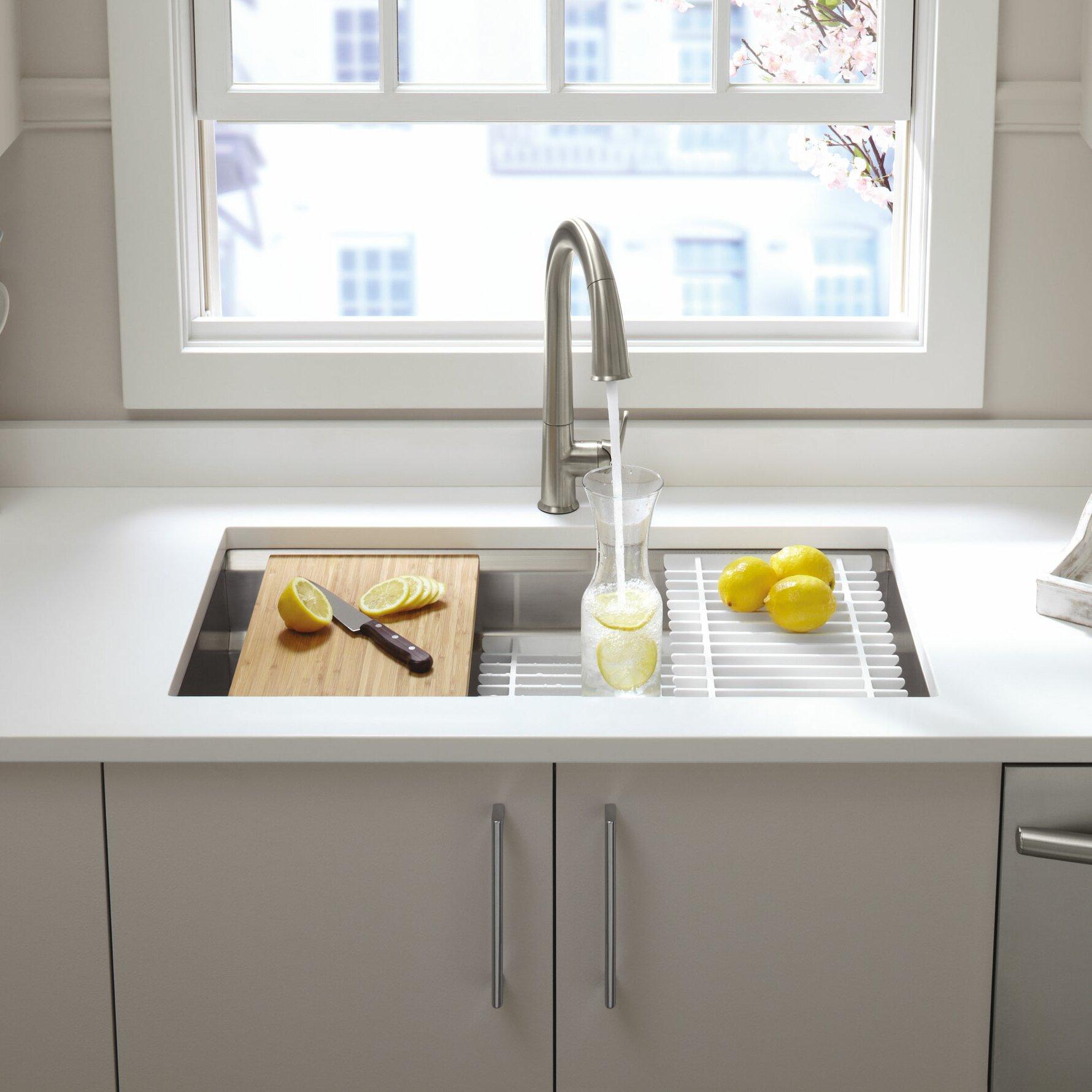 "Latest Kitchen Accessories: Kohler Prolific 33"" X 17-3/4"" X 11"" Undermount Single Bowl"