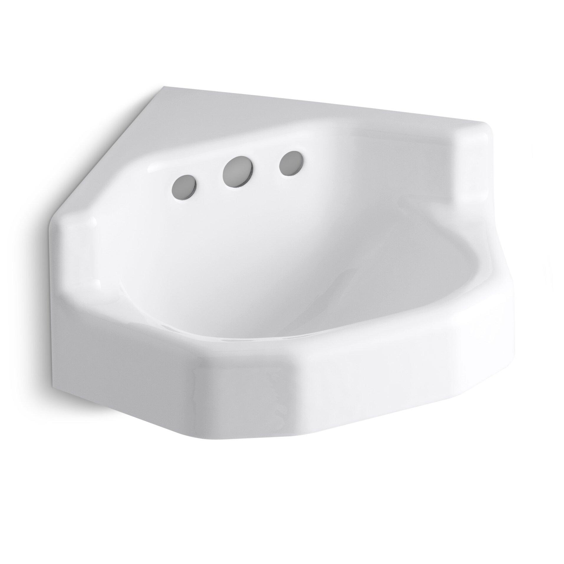 Kohler Marston 16 X 16 Corner Wall Mount Shelf Back Bathroom Sink Reviews Wayfair