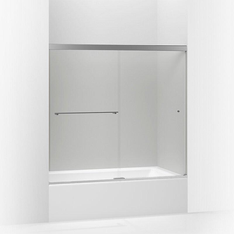 Kohler revel x 55 5 39 39 double sliding bath door for Door 55 reviews