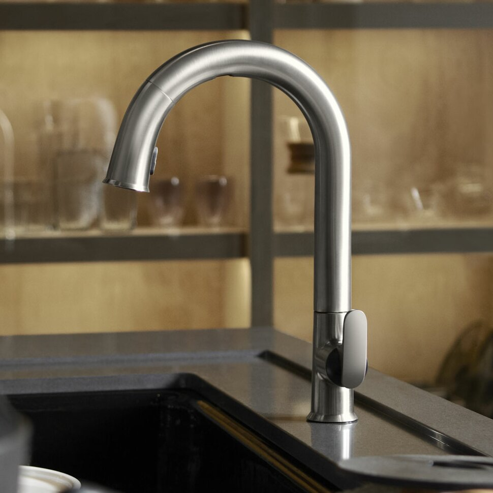 kohler sensate touchless kitchen faucet with 15 1 2 pull down spout