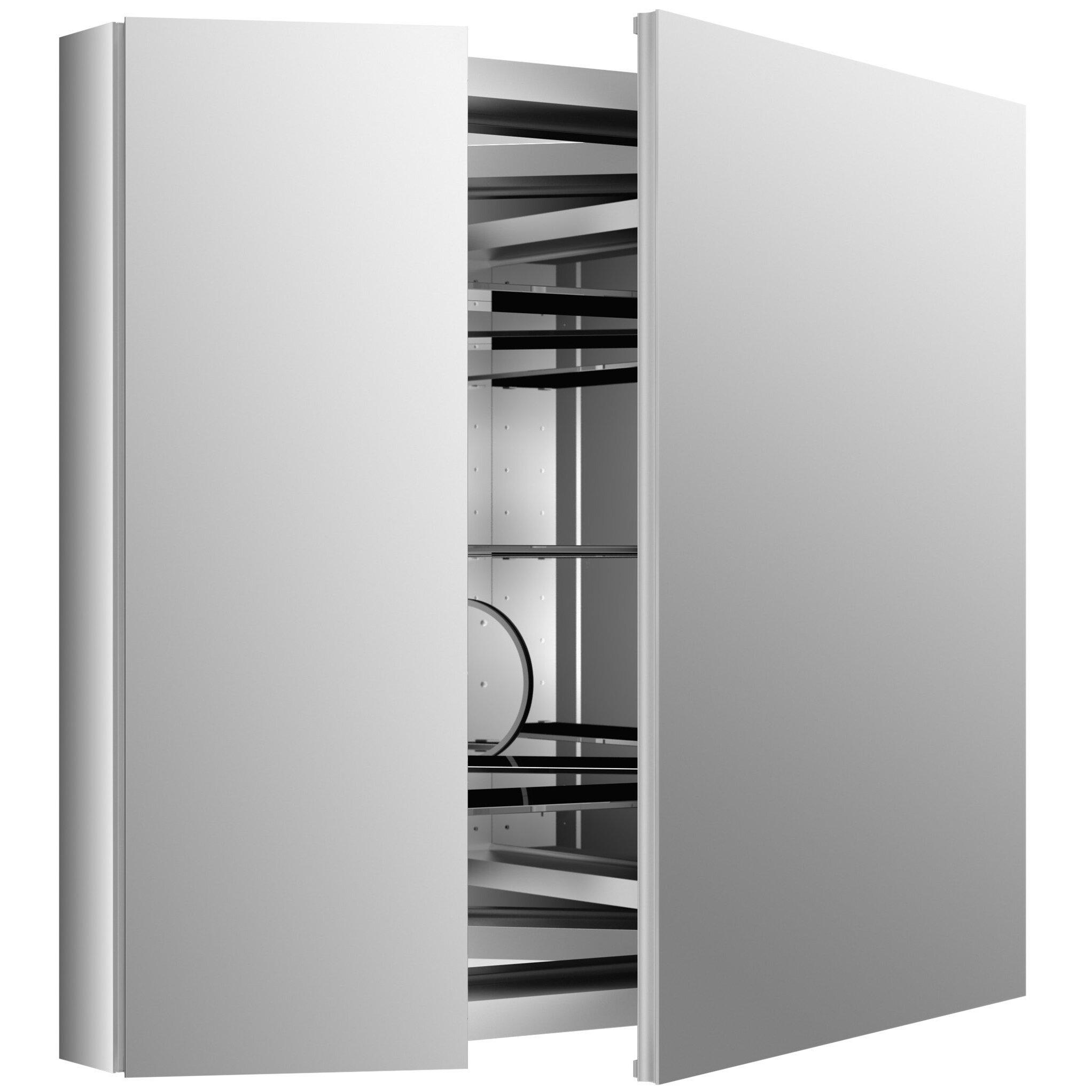 kohler verdera 34 w x 30 h aluminum medicine cabinet. Black Bedroom Furniture Sets. Home Design Ideas