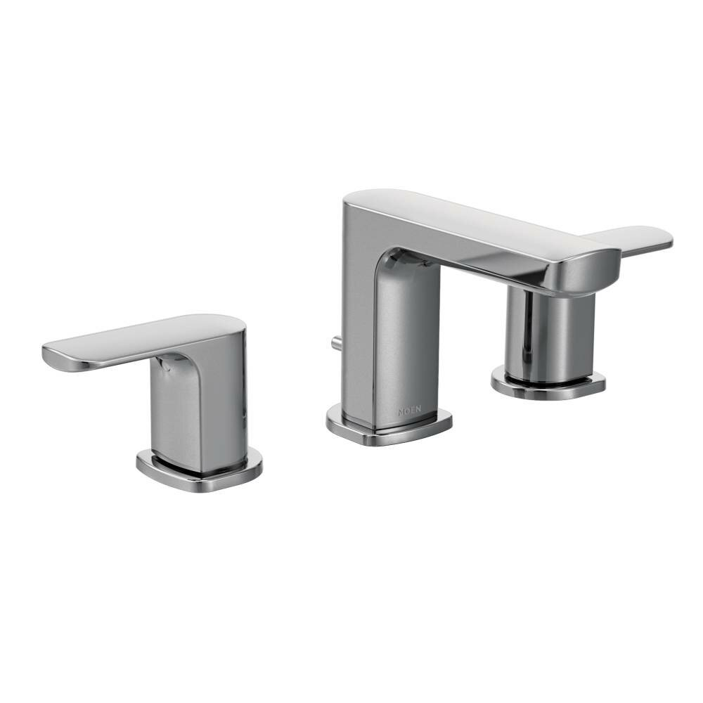 Moen Rizon Double Handle Widespread Bathroom Faucet with Drain ...