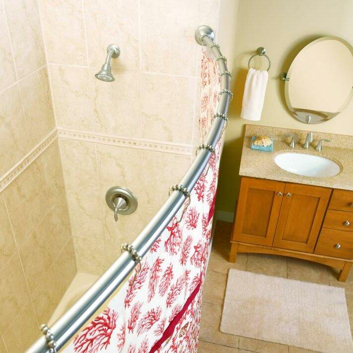 moen 5 39 curved shower rod reviews wayfair