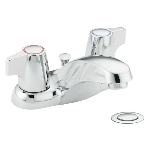Moen Chateau Double Handle Centerset Low Arc Bathroom Faucet Wayfair