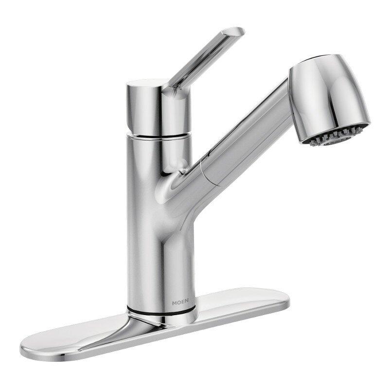 moen method single handle pull out kitchen faucet wayfair ca