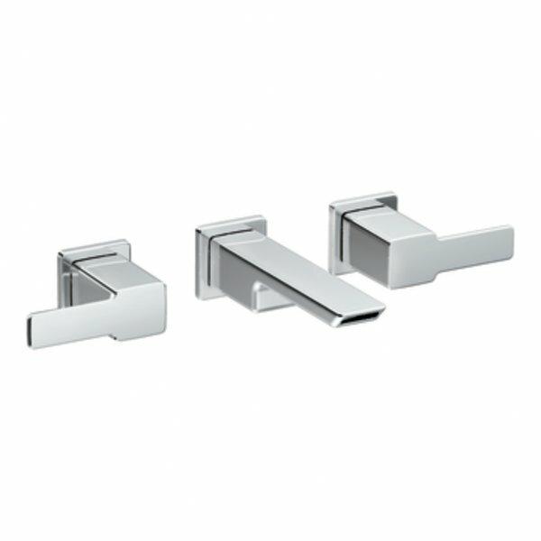 Moen 90 Degree Double Handle Wall Mounted Bathroom Faucet Reviews Wayfair