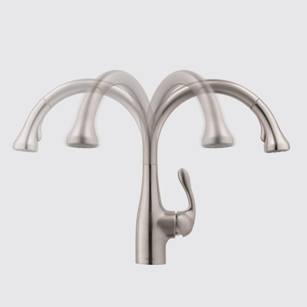 hansgrohe allegro e single handle deck mounted kitchen