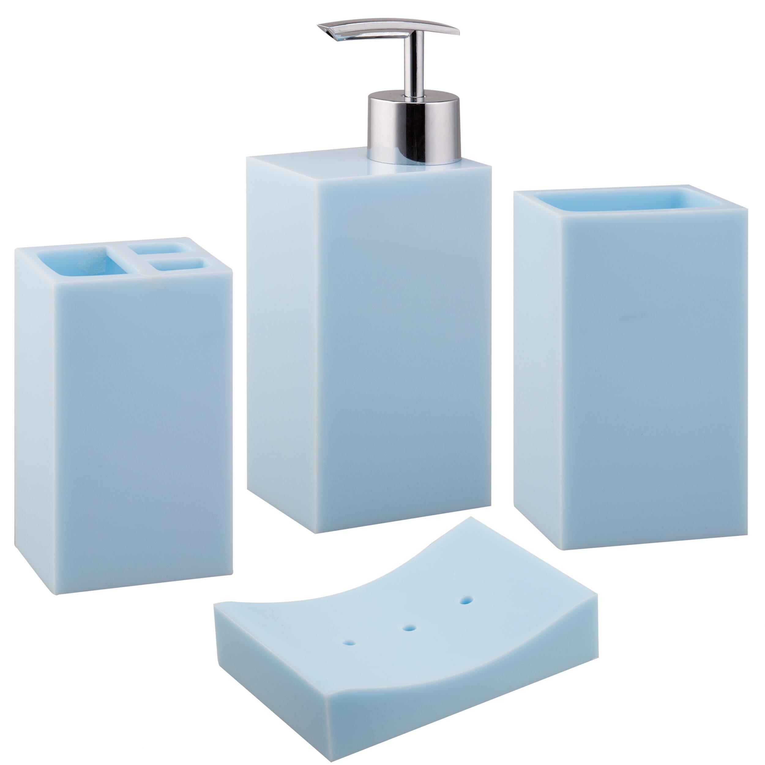 Jovi home paragon 4 piece bath accessory set reviews for Bathroom 4 piece set