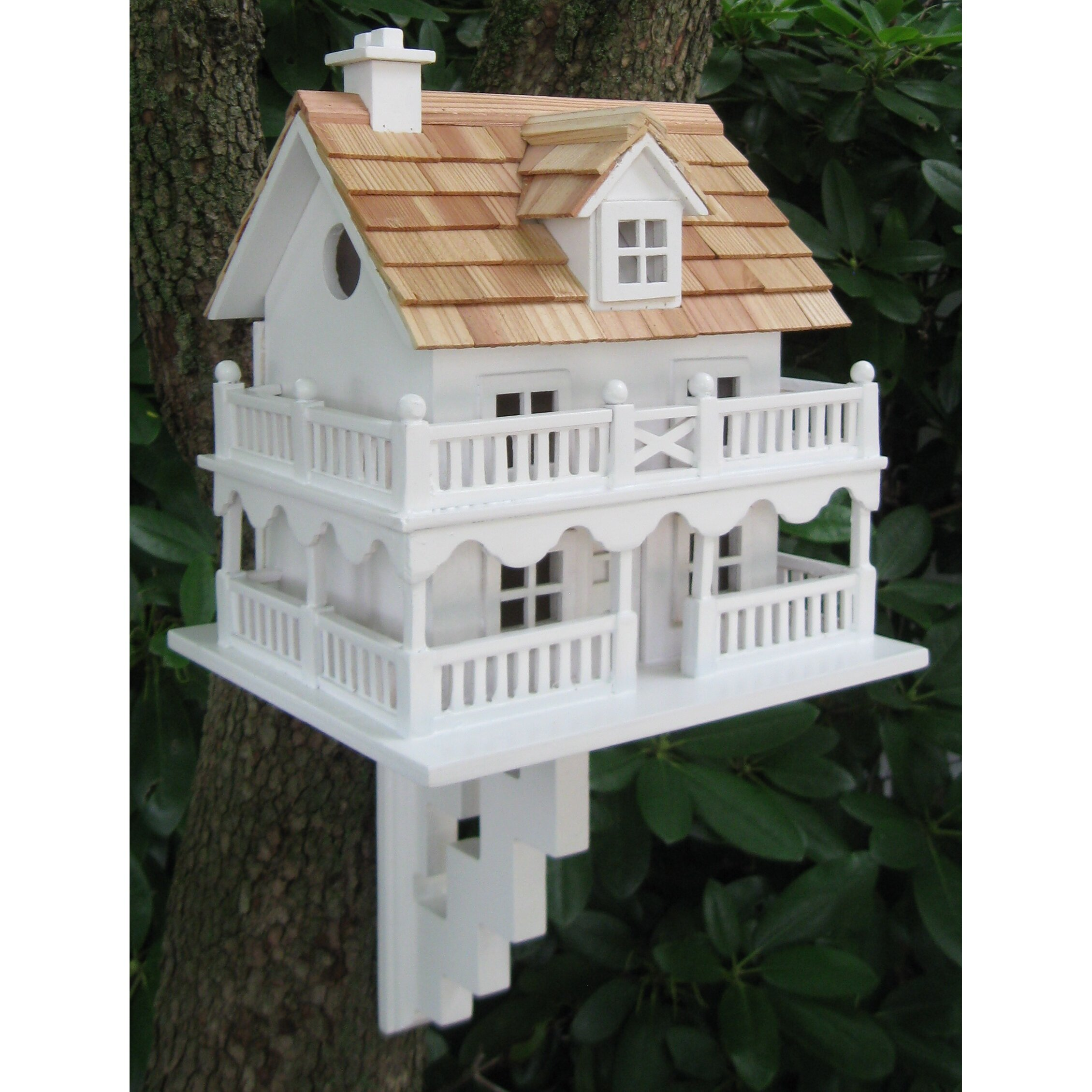 Home bazaar classic series novelty cottage birdhouse with for Classic homes reviews