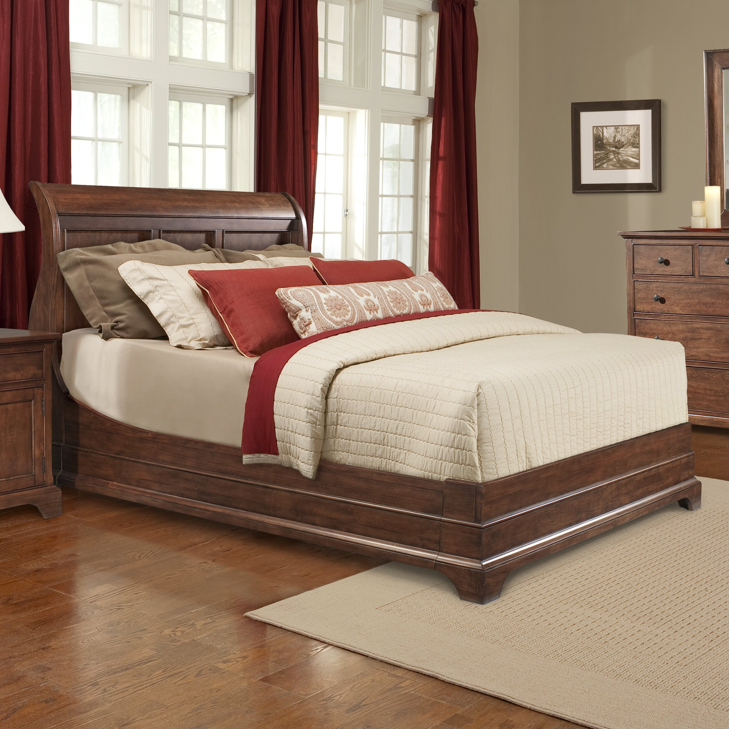 Cresent Furniture Retreat Cherry Platform Customizable Bedroom Set Reviews