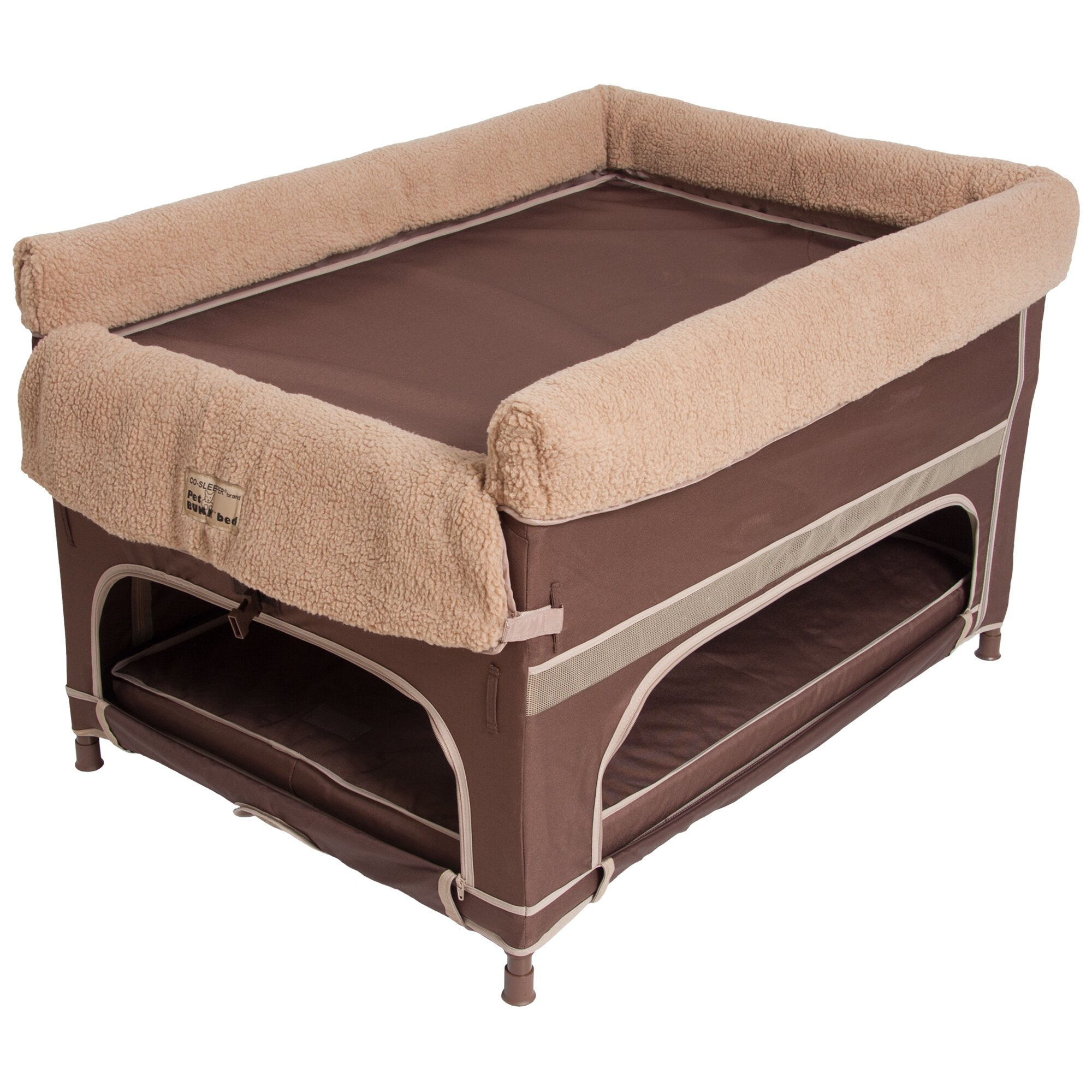 Arm 39 s reach duplex pet bunk dog cot wayfair for Pet bunk bed gallery
