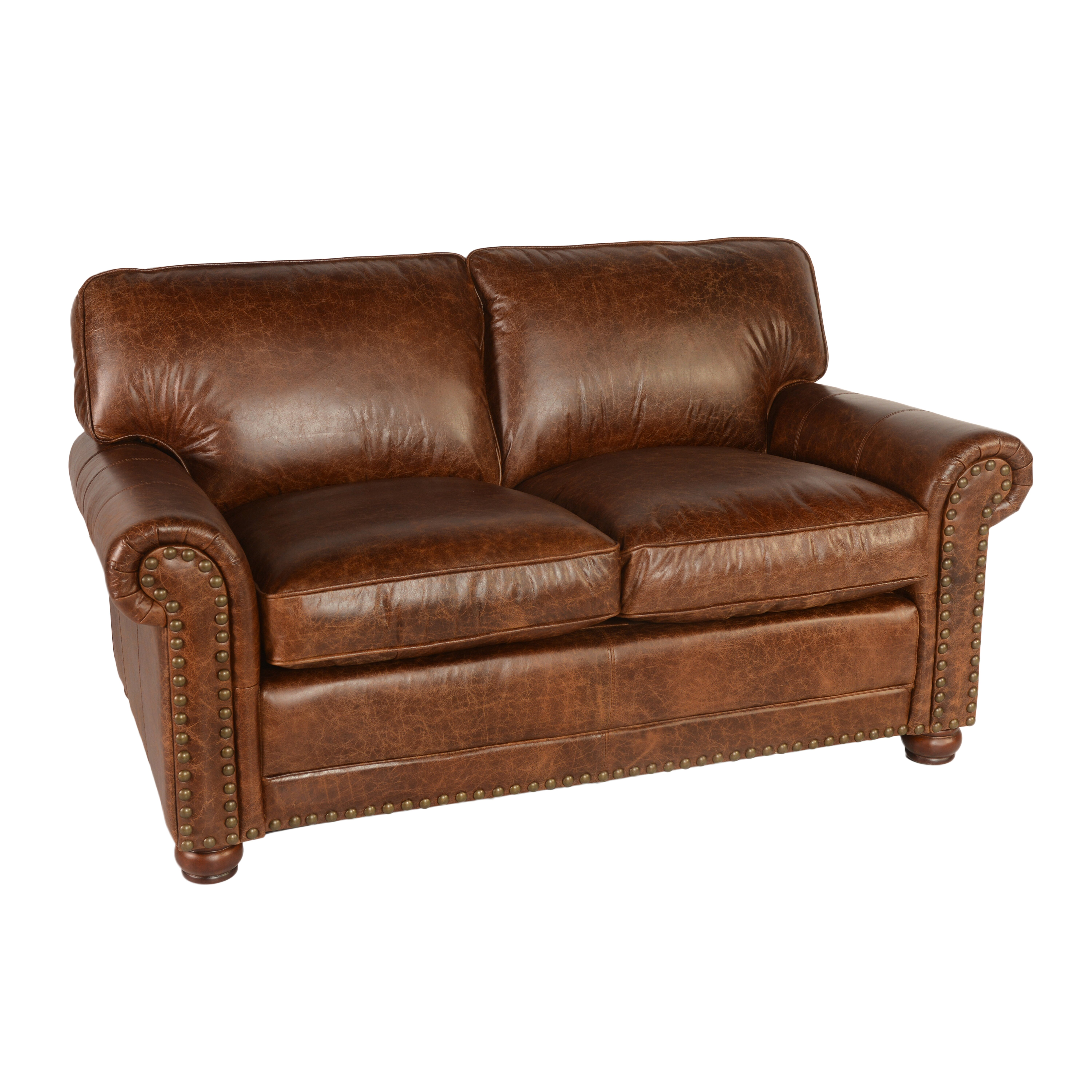 Lazzaro leather genesis leather loveseat reviews wayfair for Leather loveseat