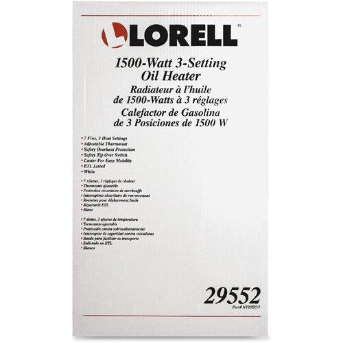 Lorell 1,500 Watt Oil-Filled Radiator Space Heater & Reviews | Wayfair