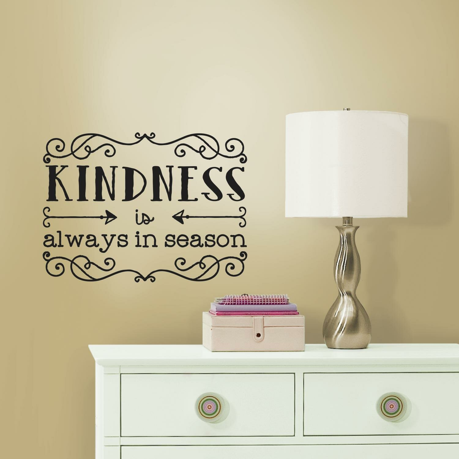 Wall Decals Quotes: Room Mates Deco Kindness Quote Wall Decal & Reviews