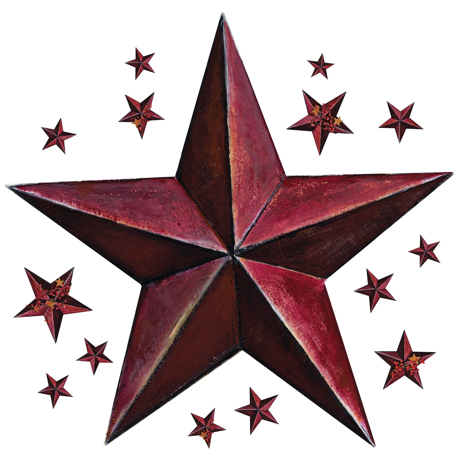 and stick giant wall decals wall stickers barn star wall decal