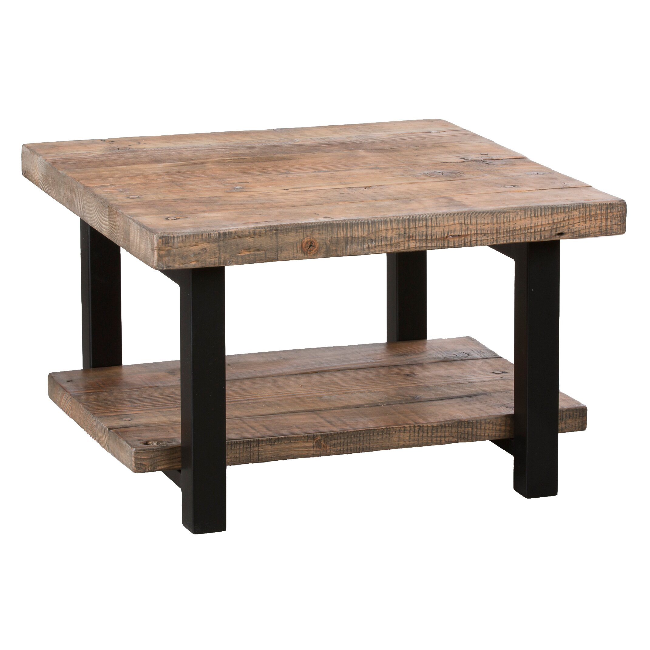Loon peak somers 27 reclaimed wood square coffee table reviews wayfair Wood square coffee tables