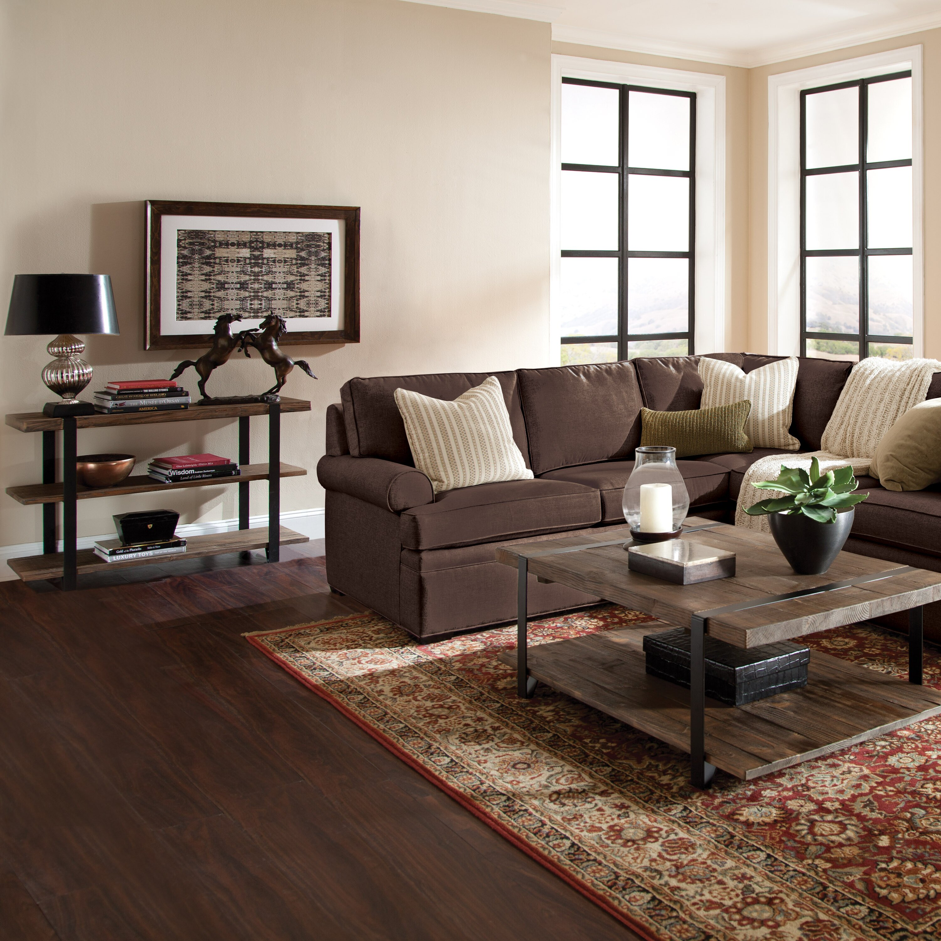 Loon peak fallon tv stand reviews for Living room table sets with tv stand