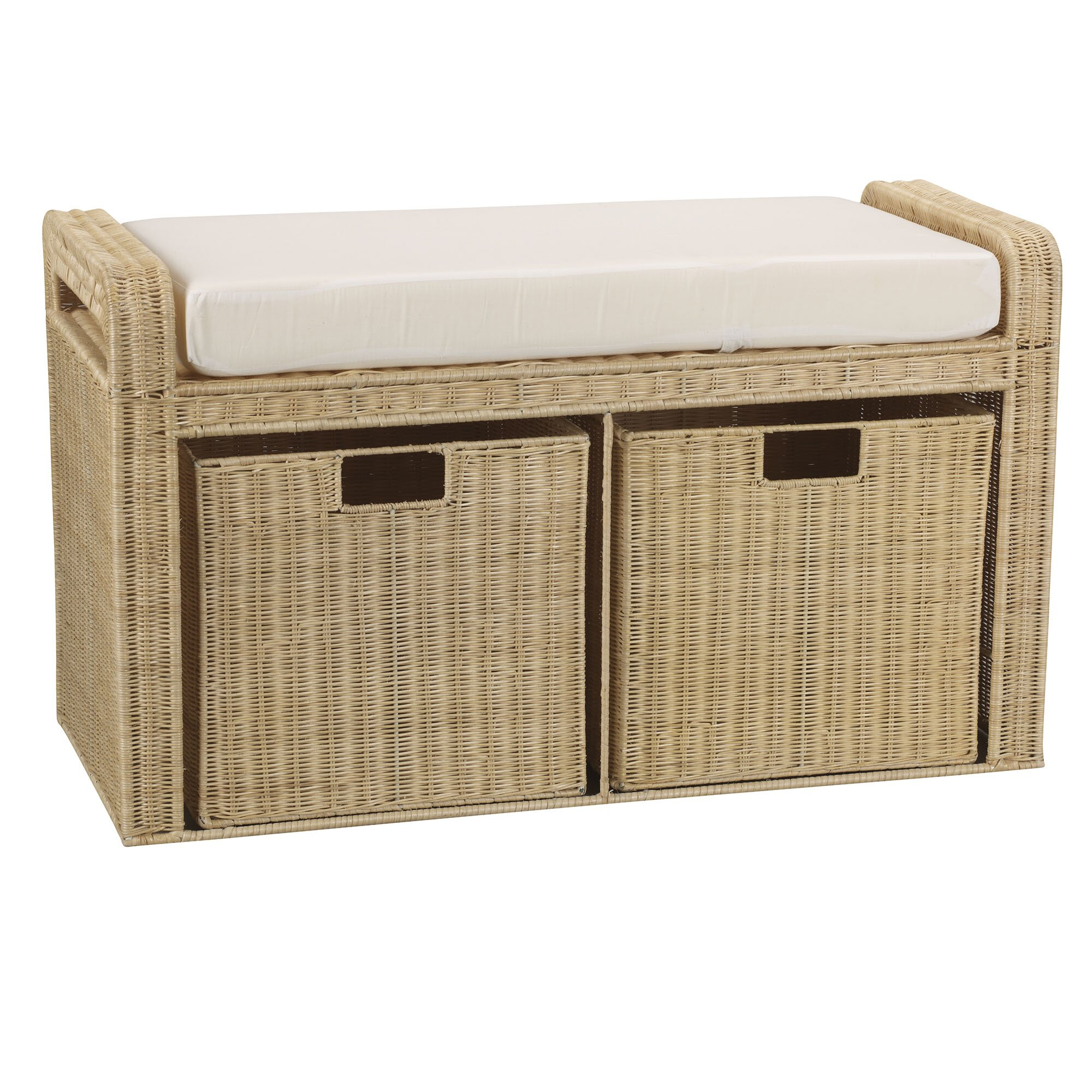 Household Essentials Rattan Natural Storage Bench Reviews Wayfair