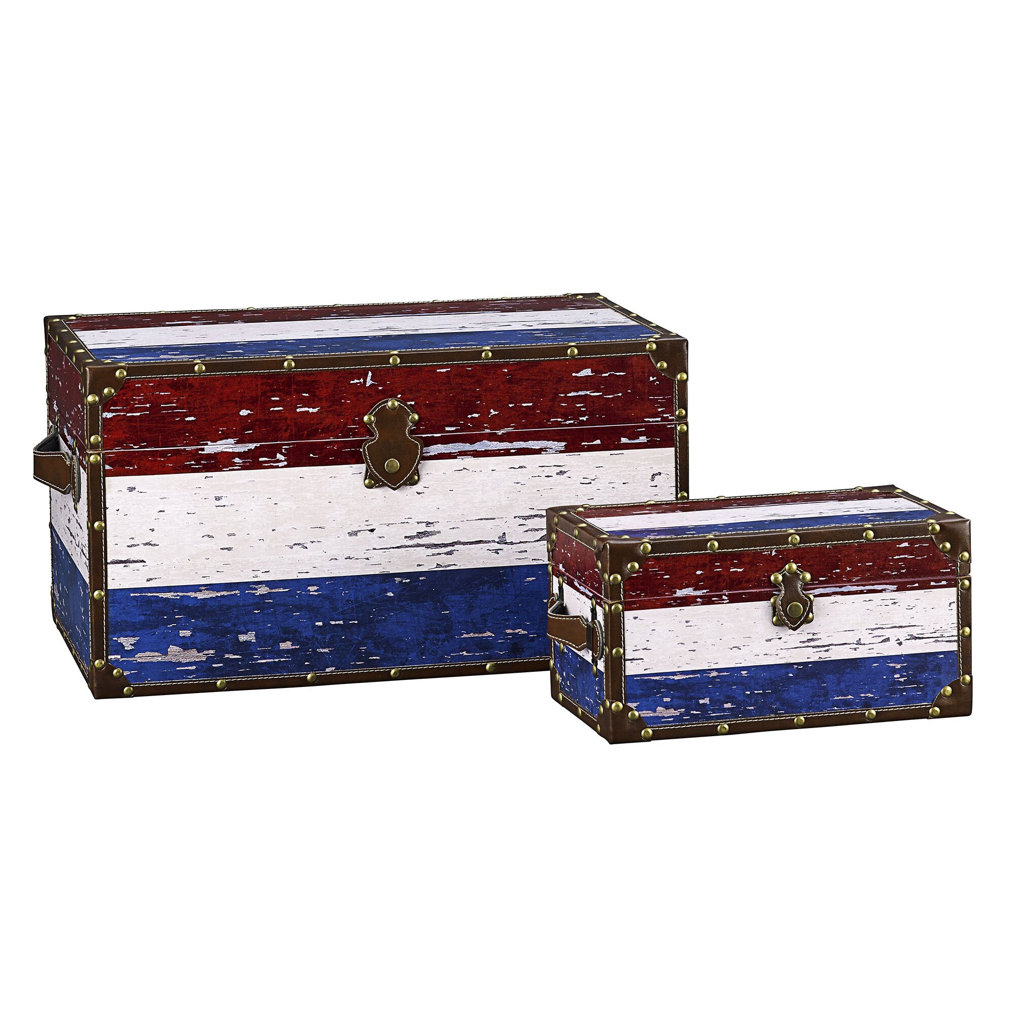 Household essentials 2 piece red white blue stripes for Household essentials whitney design