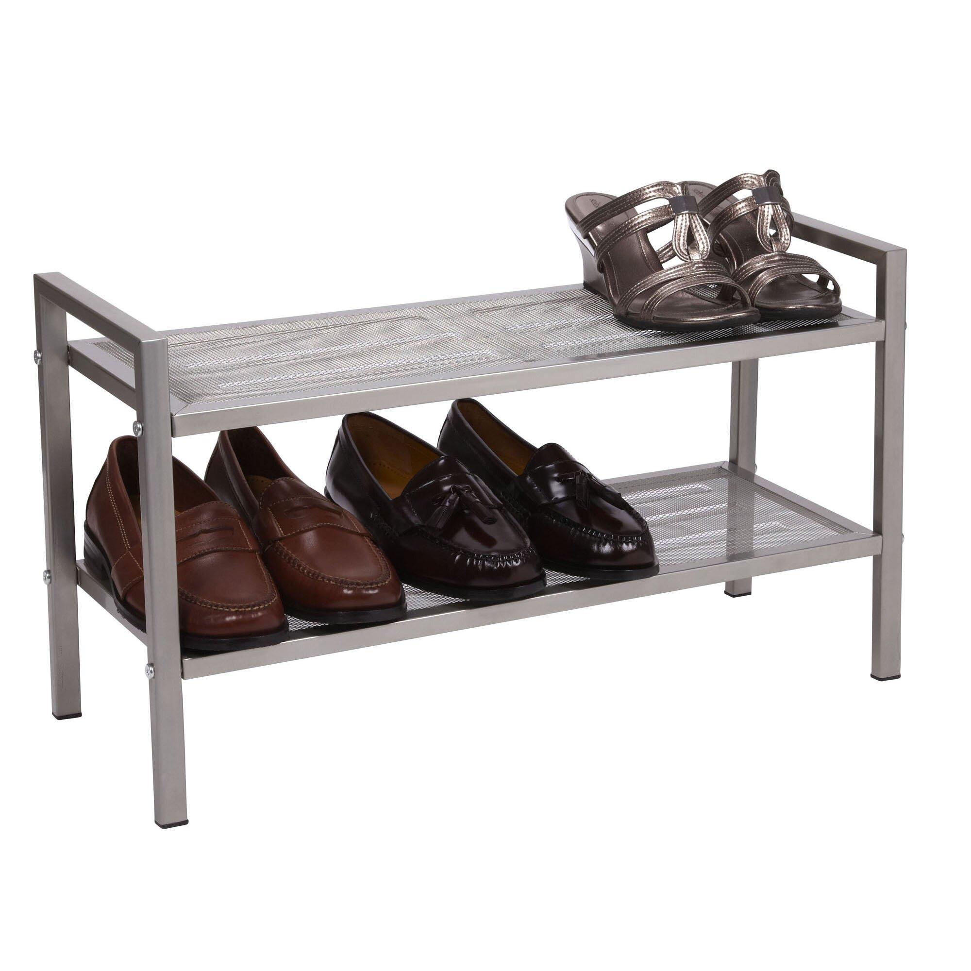 Household Essentials 2 Tier Shoe Rack Reviews Wayfair