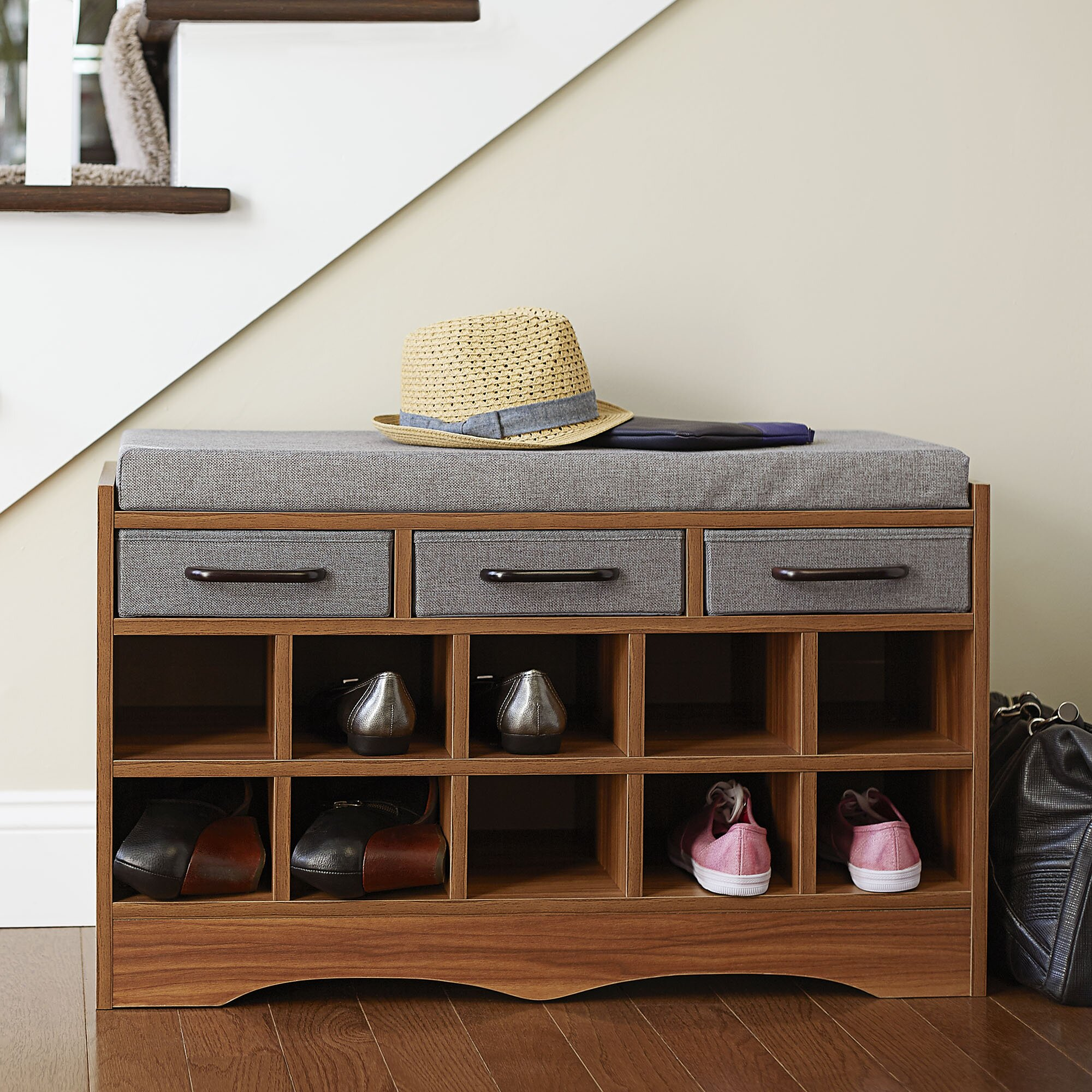 Household Essentials Entryway Shoe Storage Bench Reviews