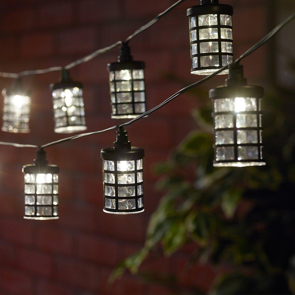 Square Lantern String Lights : Smart Solar Solar 20-Light 14.75 ft. Lantern String Lights & Reviews Wayfair