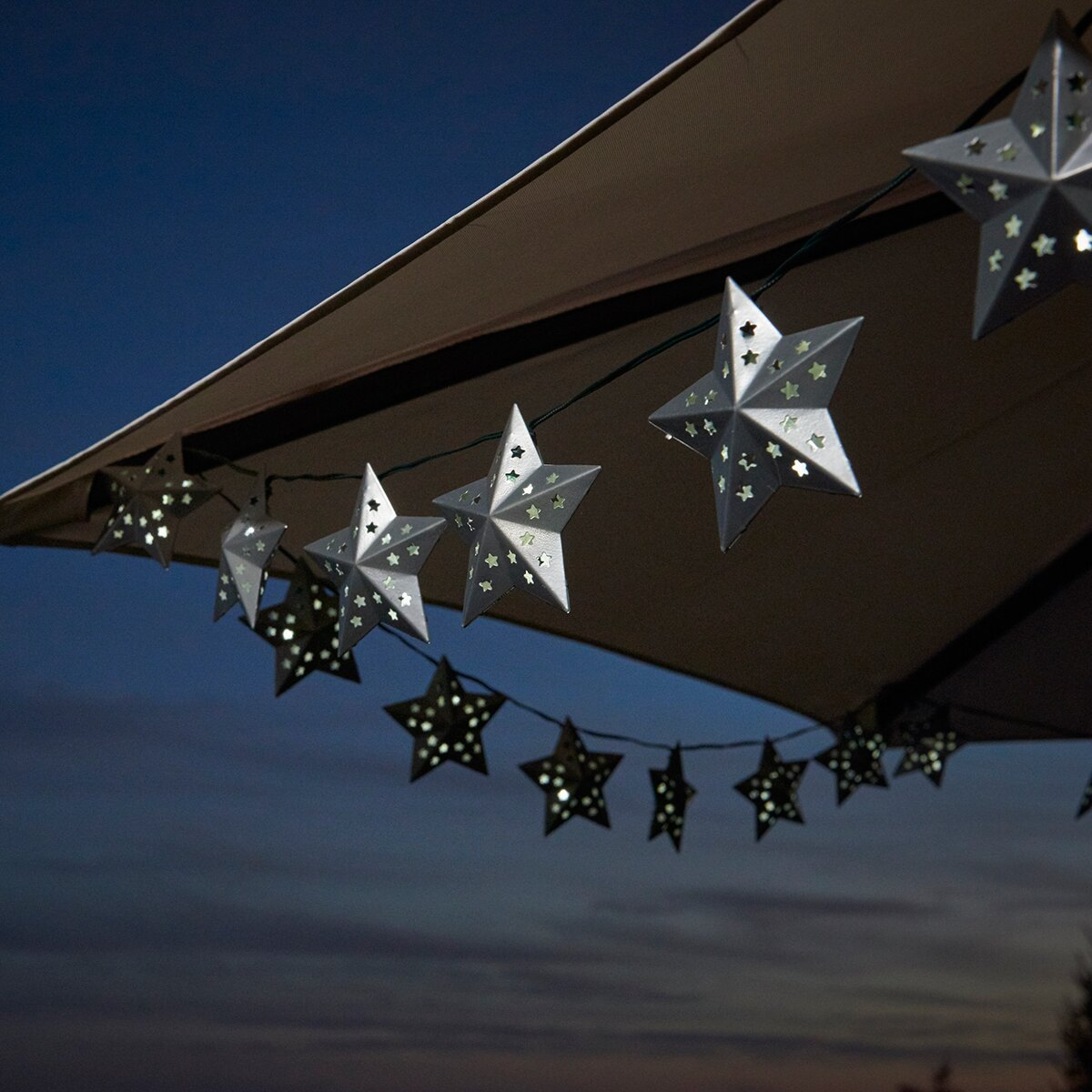 Solar Metal String Lights : Smart Solar Solar 20-Light Star String Lights & Reviews Wayfair