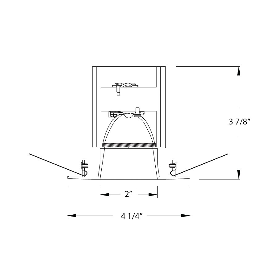 Led Recessed Lighting Beam Angle : Wac lighting tesla led degree beam angle quot recessed