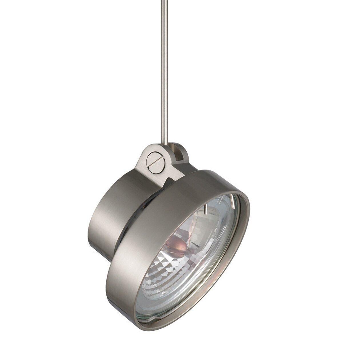 Flexible Track Lighting With Pendants: WAC Lighting 1 Light Quick Connect Flexible Stem Track