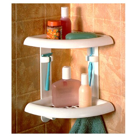 Zenith Two Tier Corner Shower Caddy In White Reviews