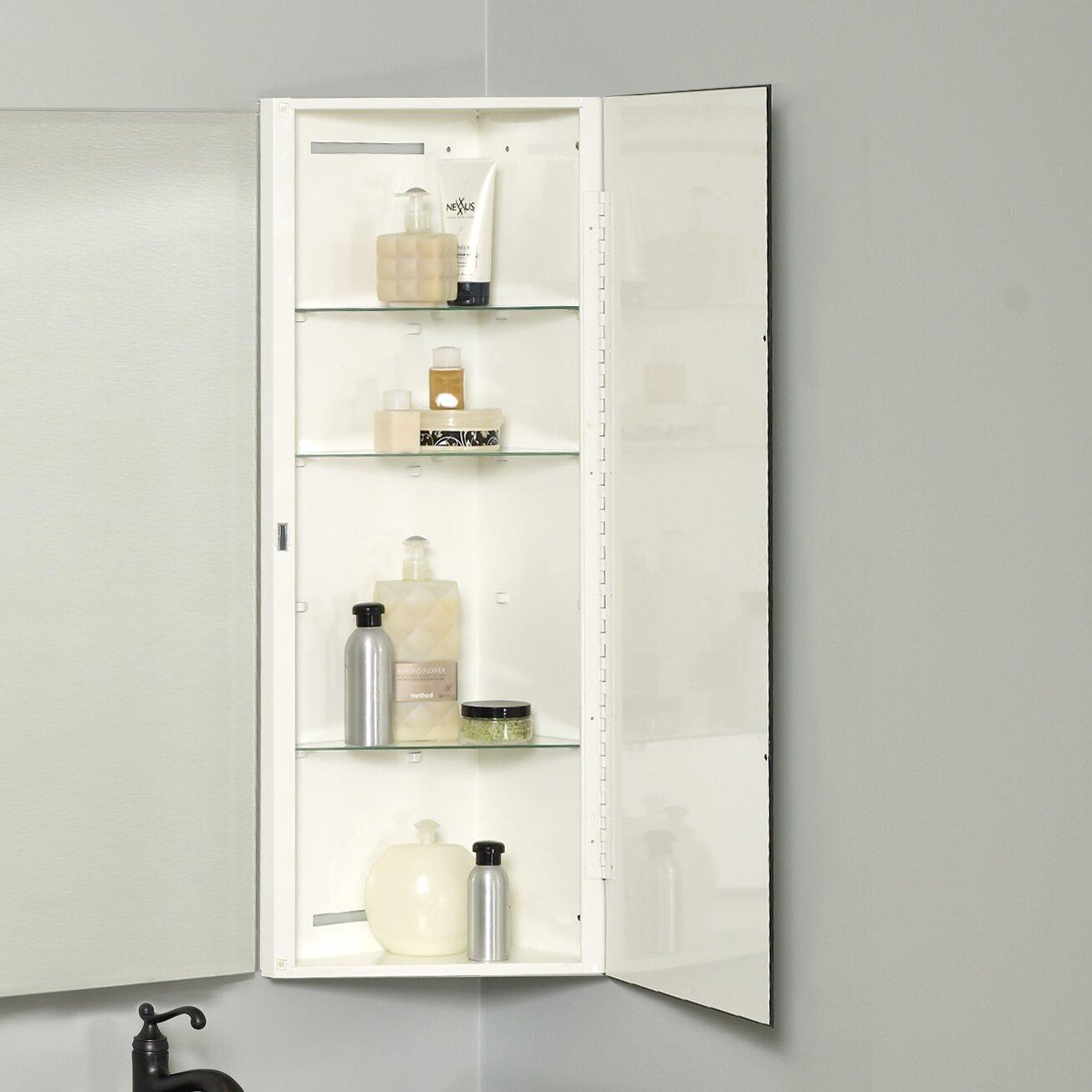 Zenith x 36 corner mount beveled edge medicine Corner medicine cabinet