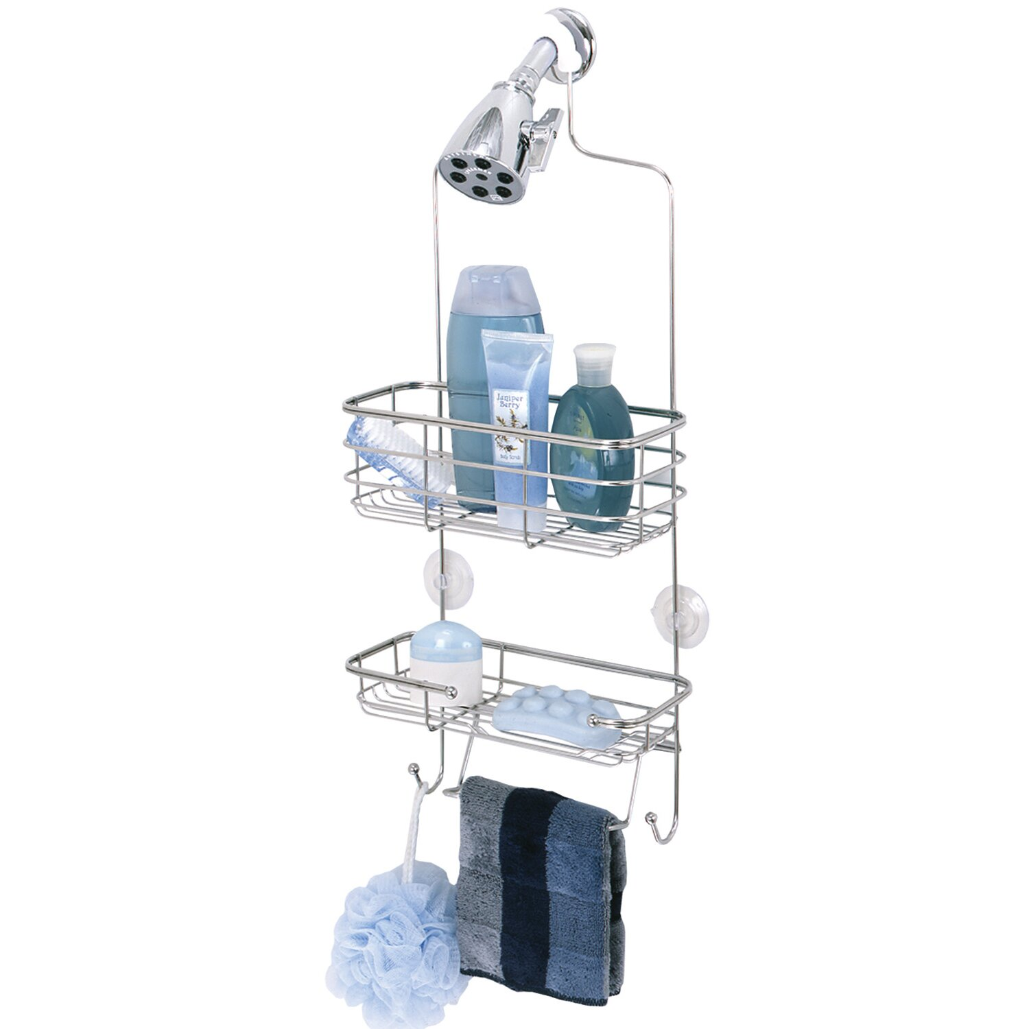 Zenith Premium Shower Caddy In Polished Stainless Steel