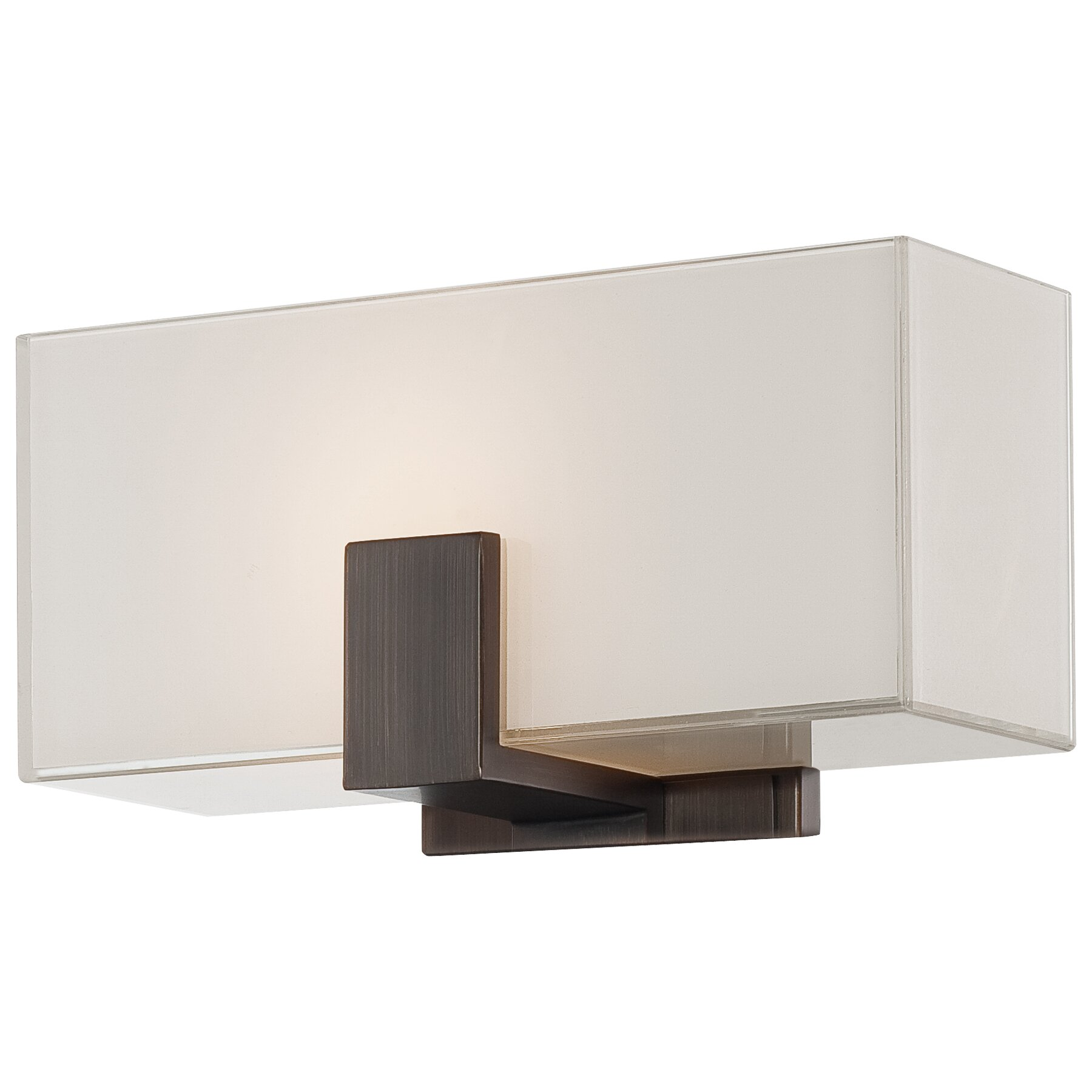 George Kovacs 1 Light Wall Sconce With Square Shades Reviews Wayfair