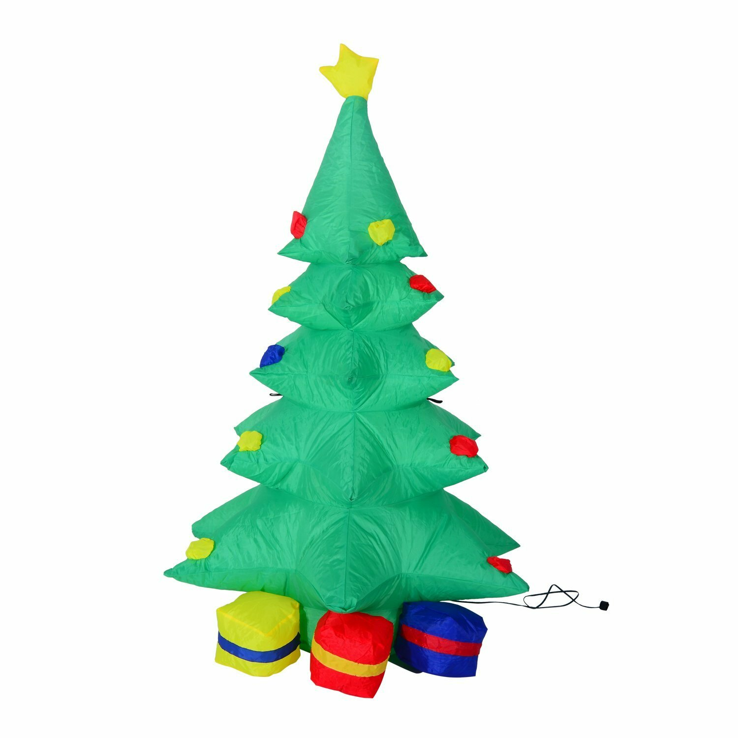 Aosom 4 39 inflatable led lit christmas tree and presents for Christmas tree lawn decoration