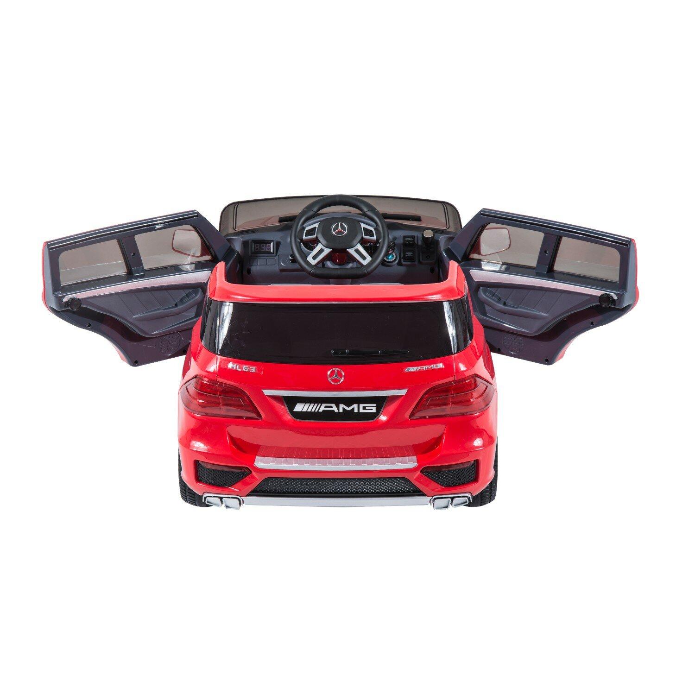 Aosom kids mercedes benz ml63 12v battery powered car for Mercedes benz for kids