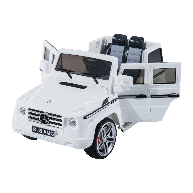 Aosom kids mercedes benz g55 12v battery powered car for Car battery for mercedes benz
