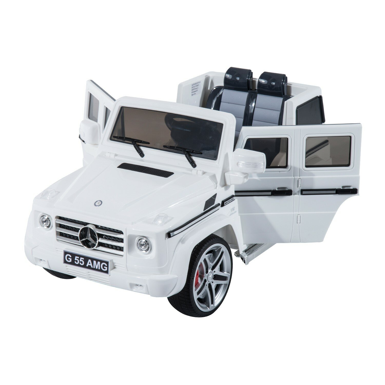 Aosom kids mercedes benz g55 12v battery powered car for Kids mercedes benz
