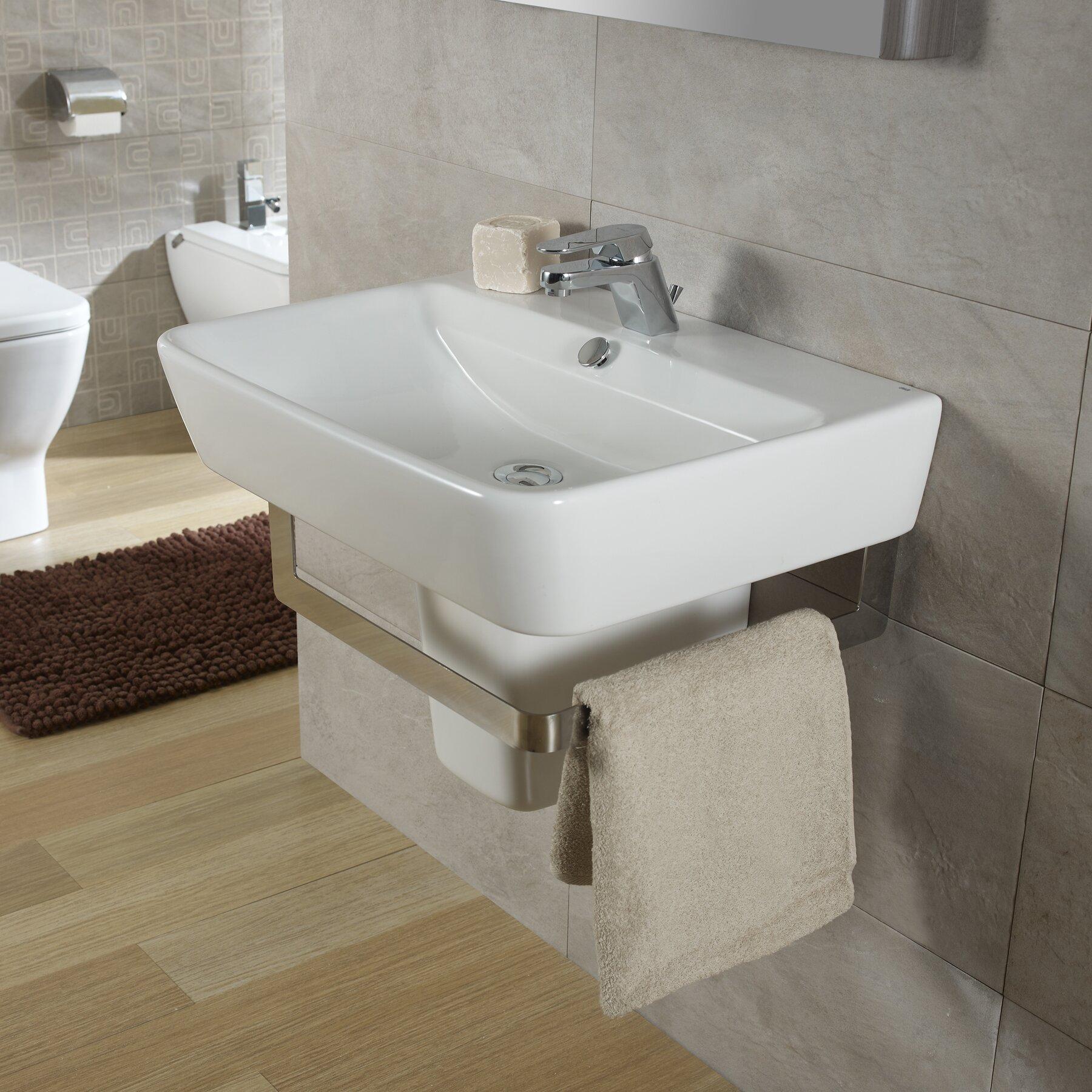 Bissonnet Emma Semi Pedestal Wall Hung Bathroom Sink