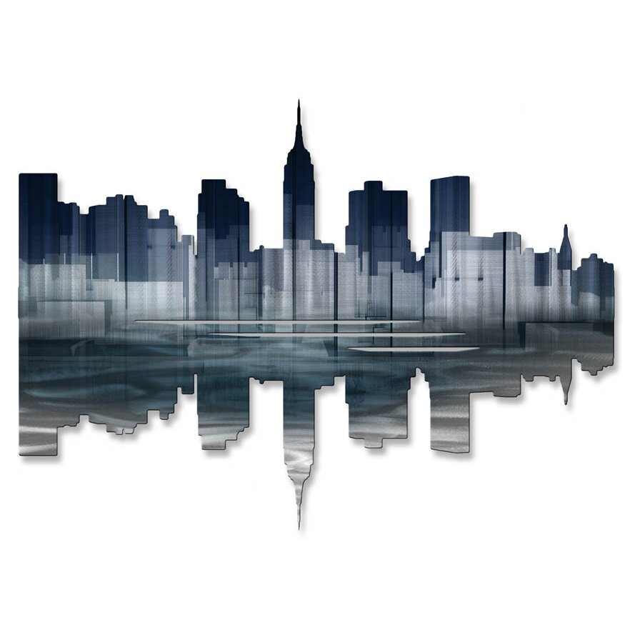 All My Walls New York City Reflection Ii Wall Décor. Decorative Tree. Backyard Decoration Ideas. Big Lots Room Divider. Decorative Notebooks. Raymour And Flanigan Dining Room Sets. Decorative Floor Tile. Middle School Locker Decorations. Decorative Ceiling Fans