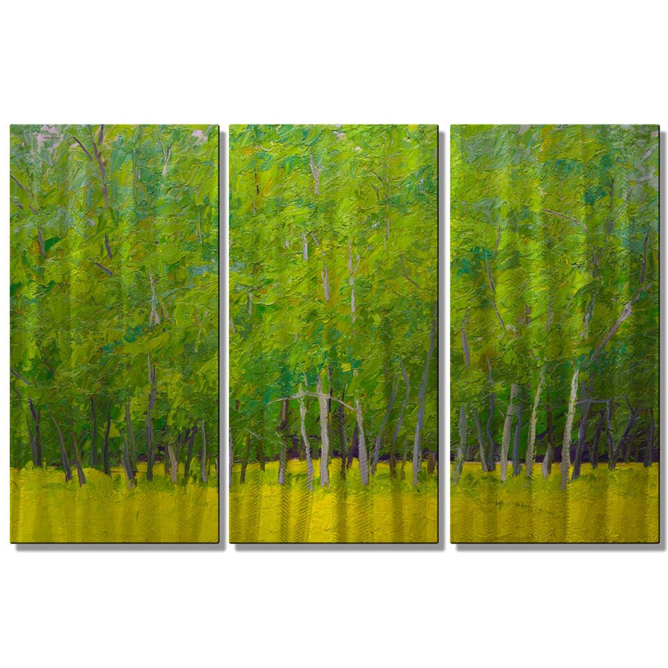 All my walls 39 reaching 39 by kevin liang 3 piece painting - Paint for exterior walls set ...