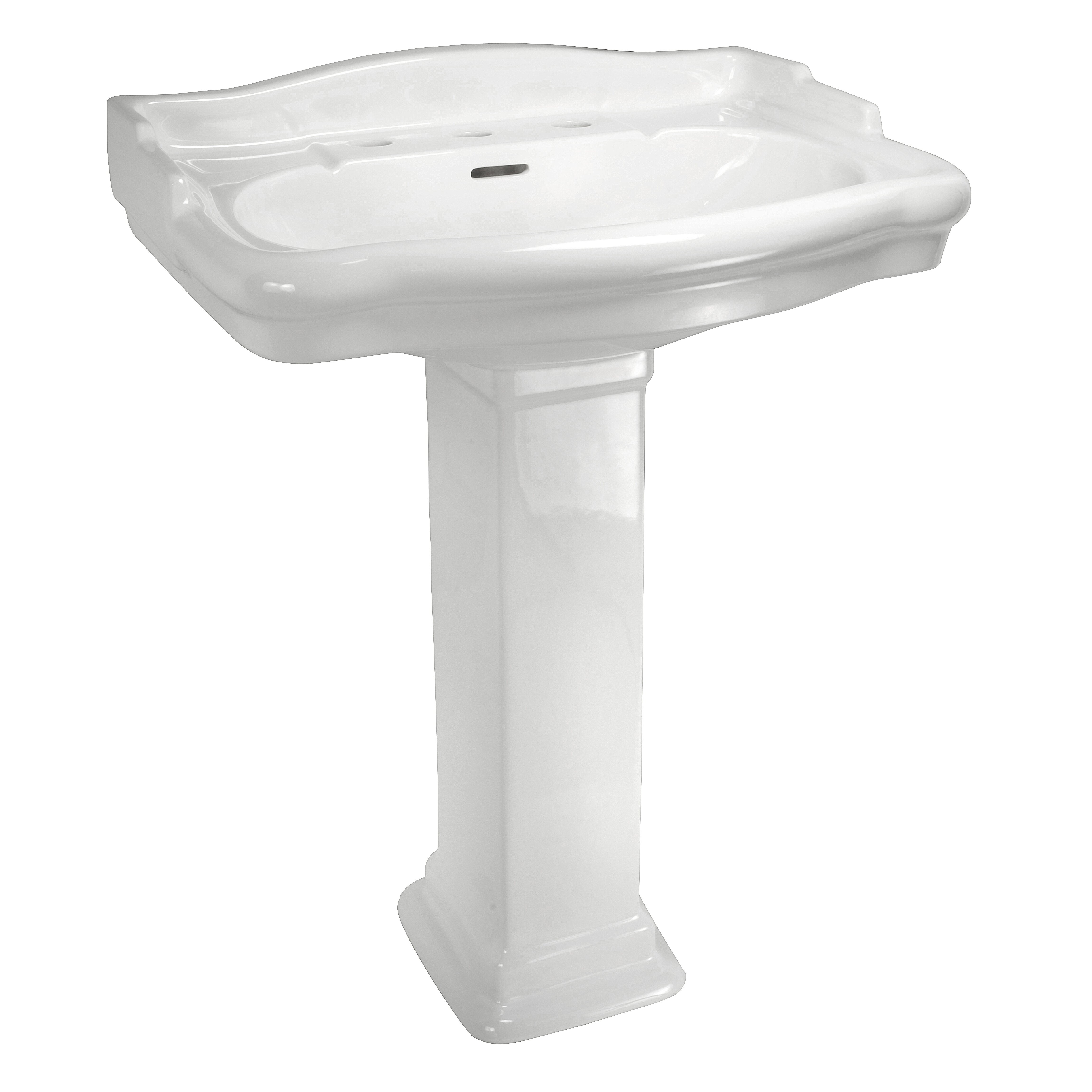 ... Classics English Turn Petite Pedestal Sink Base & Reviews Wayfair