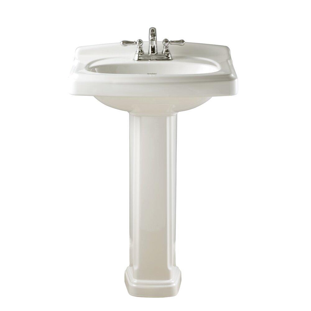 american standard portsmouth pedestal bathroom sink set. Black Bedroom Furniture Sets. Home Design Ideas